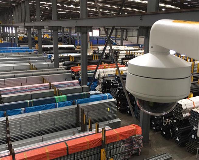 Steel Distribution Warehouse – CCTV Installation